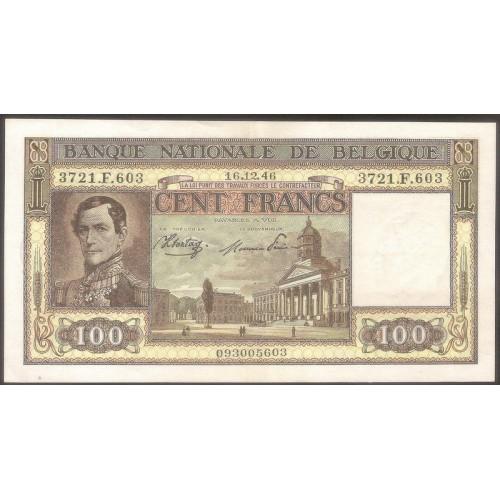 BELGIUM 100 Francs 16.02.1946