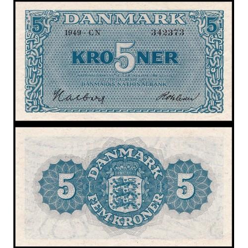 DENMARK 5 Kroner 1949