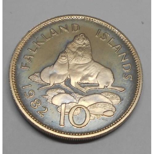 FALKLAND ISLANDS 10 pence...