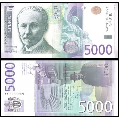 SERBIA 5000 Dinara 2010 Low...