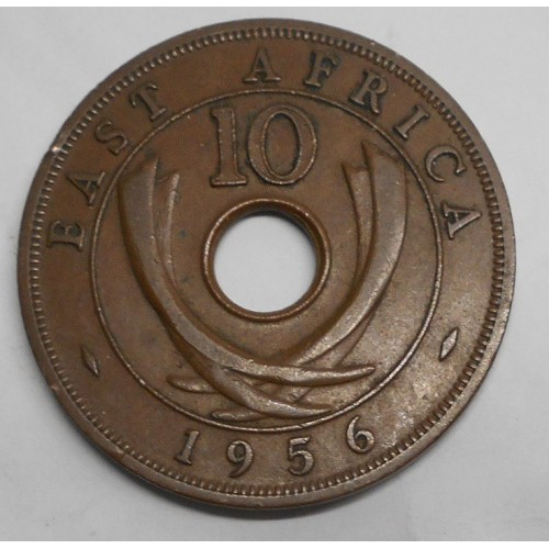 EAST AFRICA 10 Cents 1956