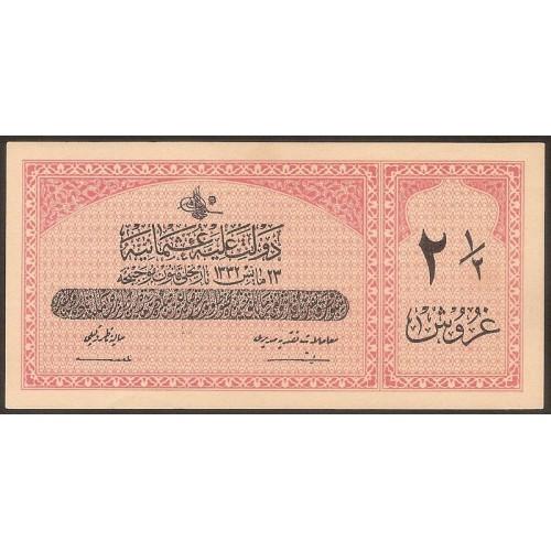 TURKEY 2 1/2 Piastres 1913