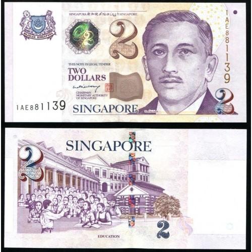 SINGAPORE 2 Dollars 2005