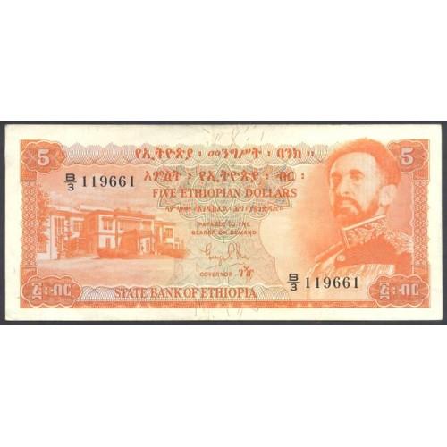 ETHIOPIA 5 Dollars 1961