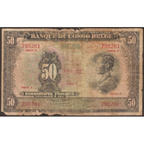 BELGIAN CONGO 50 Francs...