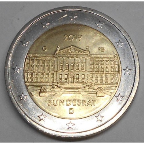GERMANY 2 Euro 2019G Bundesrat