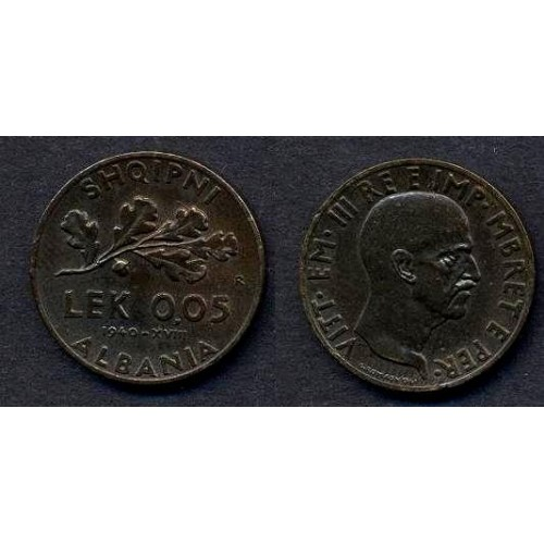 ALBANIA 0,05 Lek 1940