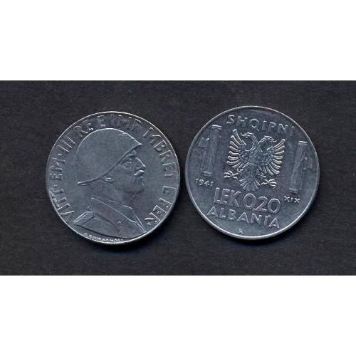 ALBANIA 0,20 Lek 1941