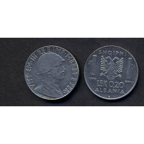ALBANIA 0,20 Lek 1940