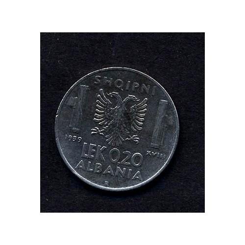 ALBANIA 0,20 Lek 1939 A.M.