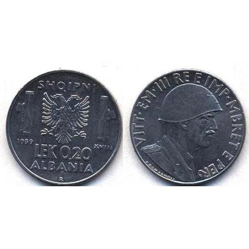 ALBANIA 0,20 Lek 1939 M.
