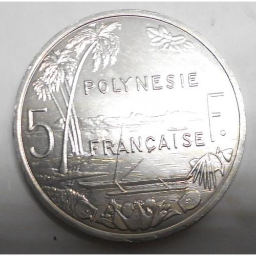 FRENCH POLYNESIA 5 Francs 2005