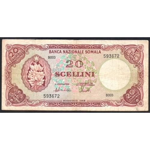 SOMALIA 20 Scellini 1968