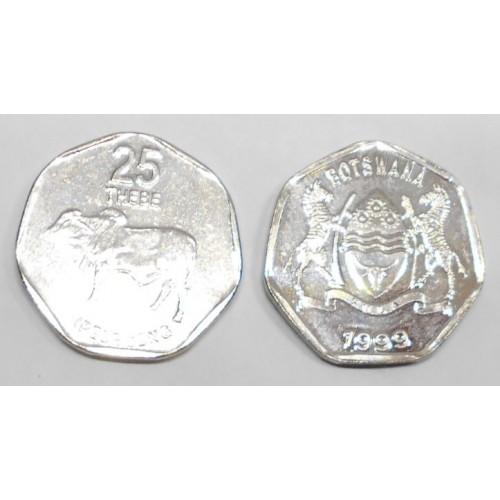 BOTSWANA 25 Thebe 1999