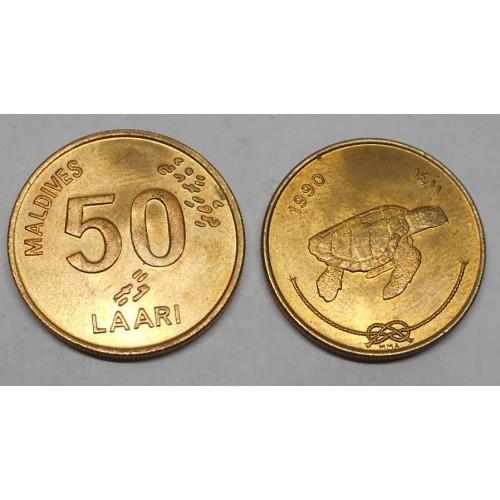 MALDIVE 50 Laari 1990