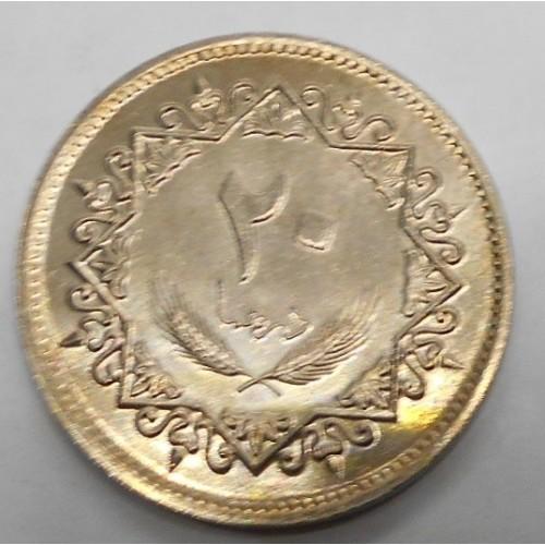 LIBYA 20 Dirhams 1975