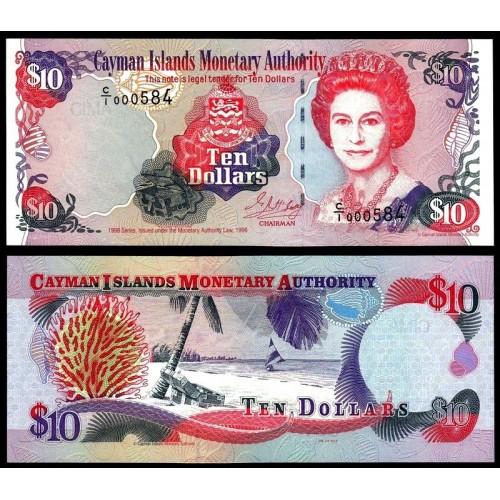 CAYMAN ISLANDS 10 Dollars 1998