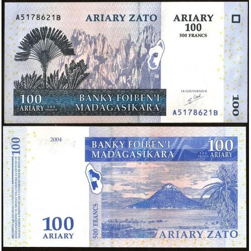 MADAGASCAR 100 Ariary 2004