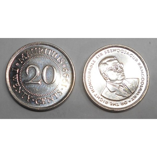 MAURITIUS 20 Cents 1999