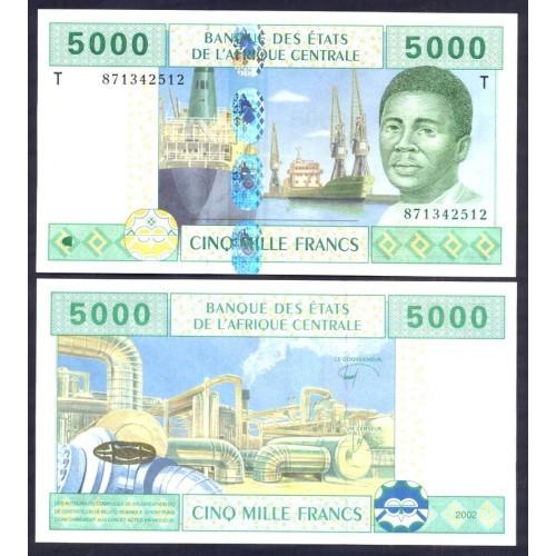 CONGO (C.A.S.) 5000 Francs...
