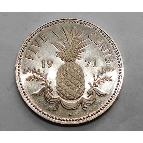BAHAMAS 5 Cents 1971 PROOF