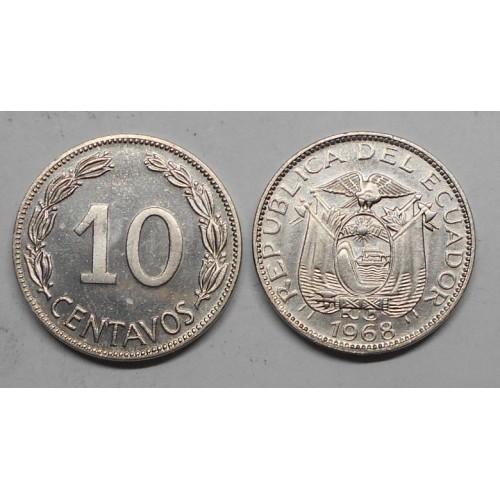 ECUADOR 10 Centavos 1968