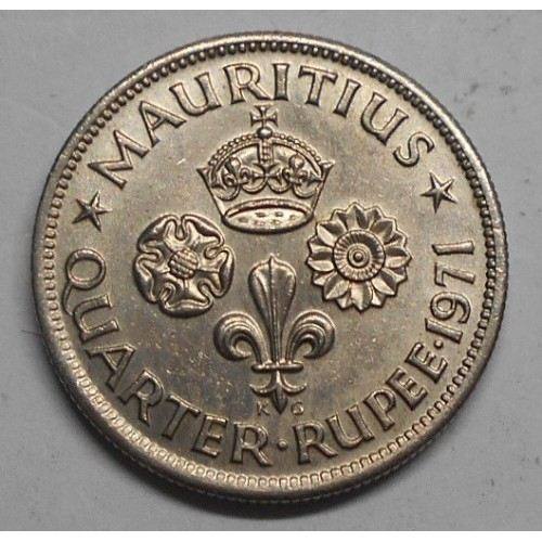 MAURITIUS 1/4 Rupee 1971