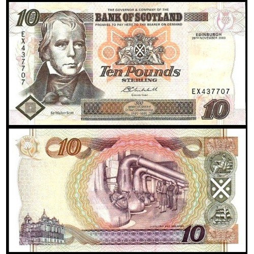 SCOTLAND 10 Pounds 2003...