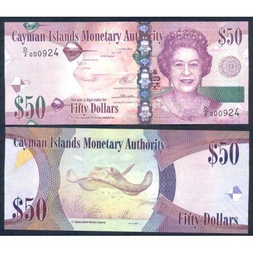 CAYMAN ISLANDS 50 Dollars 2014