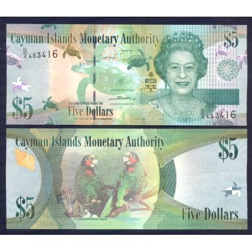 CAYMAN ISLANDS 5 Dollars 2014