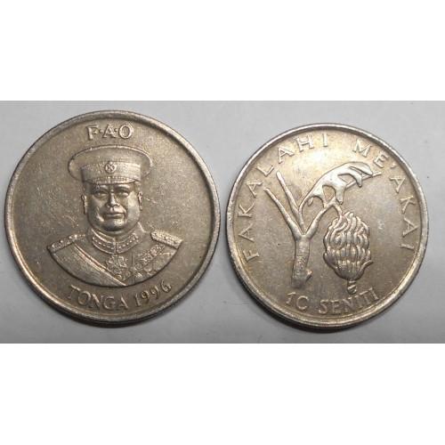 TONGA 10 Seniti 1996 FAO