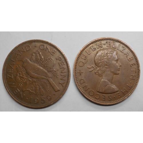 NEW ZEALAND 1 Penny 1959