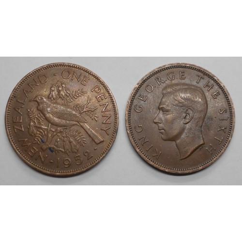 NEW ZEALAND 1 Penny 1952