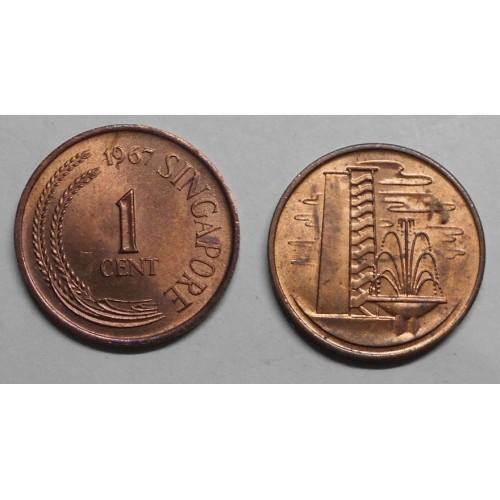SINGAPORE 1 Cent 1967