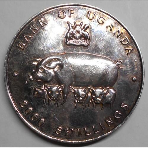 UGANDA 2000 Shillings 1995...