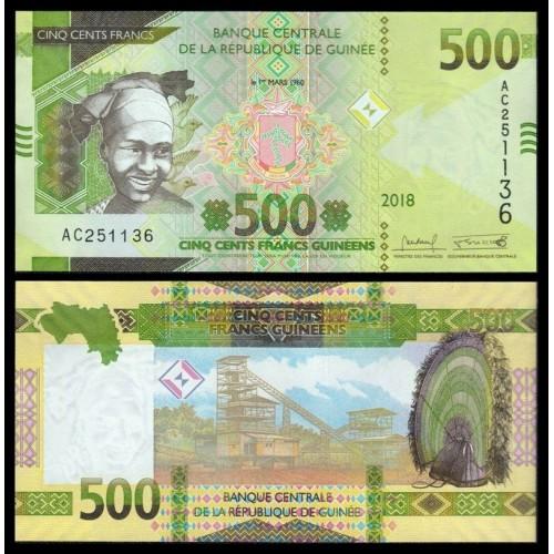 GUINEA 500 Francs 2018