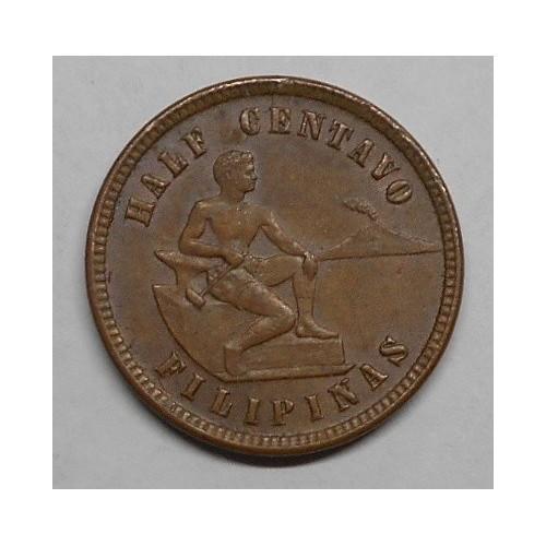 PHILIPPINES 1/2 Centavo 1903