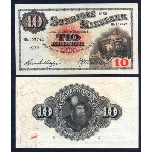 SWEDEN 10 Kronor 1939