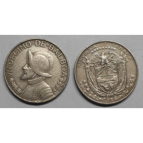 PANAMA 1/10 Balboa 1966