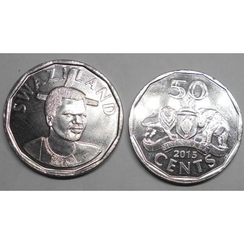 SWAZILAND 50 Cents 2015