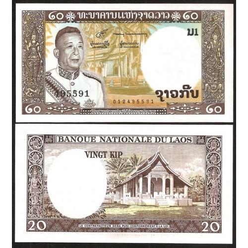 LAOS 20 Kip 1963