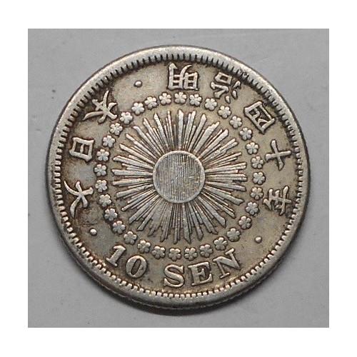 JAPAN 10 Sen 1907 AG