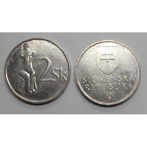 SLOVAKIA 2 Koruna 1993