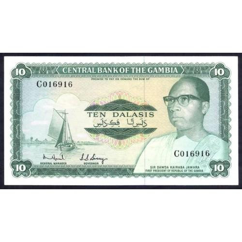 GAMBIA 10 Dalasis 1972
