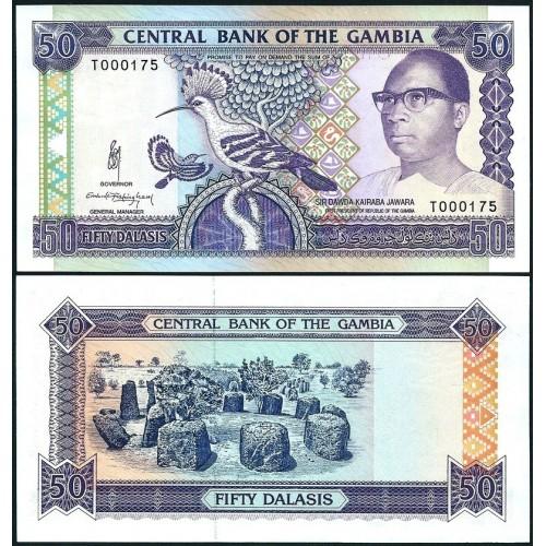 GAMBIA 50 Dalasis 1989 Low...