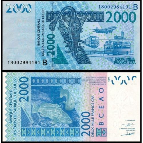 BENIN (W.A.S.) 2000 Francs...