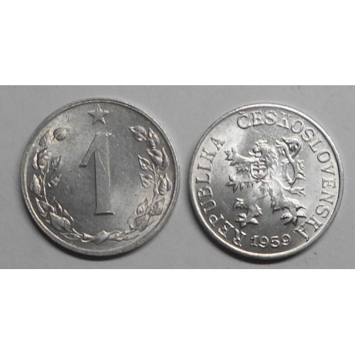 CZECHOSLOVAKIA 1 Haler 1959