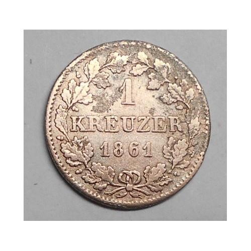 BAVARIA 1 Kreuzer 1861 AG