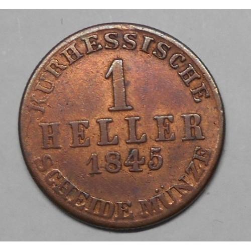 HESSE CASSEL 1 Heller 1845