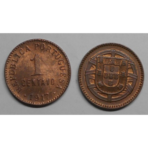 PORTUGAL 1 Centavo 1917